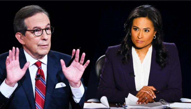 ▲美國總統大選首場辯論主持人華勒斯(左)亦對主持終場辯論的維爾克表達羨慕,直言這才是他理想的辯論會。(圖/翻攝自 The Daily Beast )