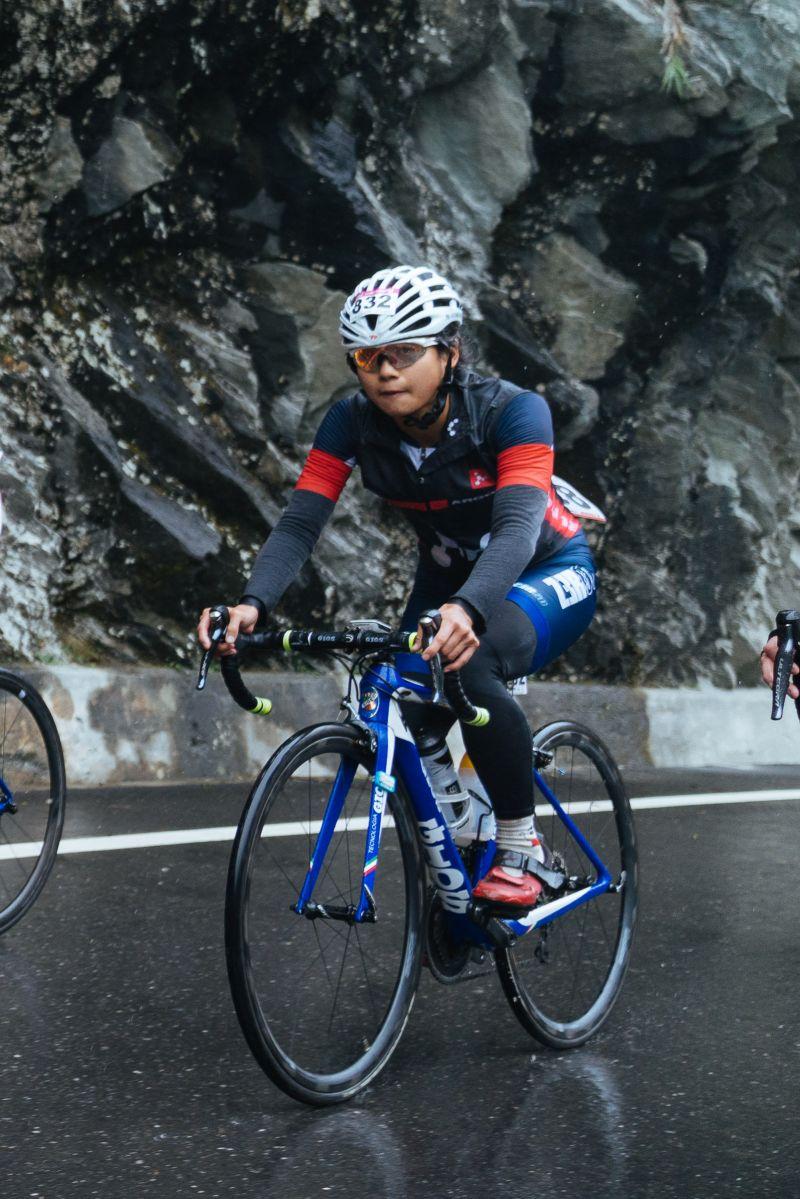 ▲2020臺灣自行車登山王挑戰,女子總排、台灣第一郭家齊。(圖/中華民國自行車騎士協會