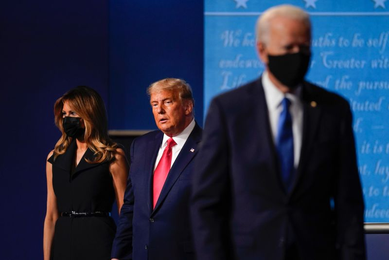 ▲美國總統大選最後一場辯論已落幕。(圖/美聯社/達志影像)