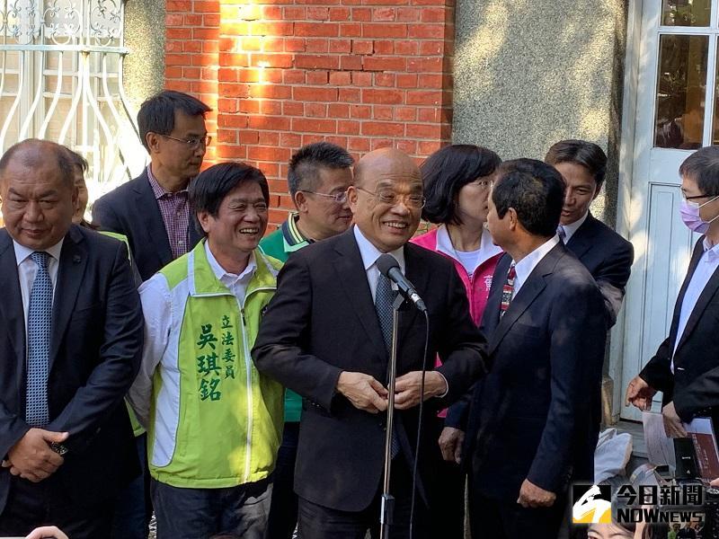 蘇貞昌向習近平喊話 別用戰爭威脅台灣人民