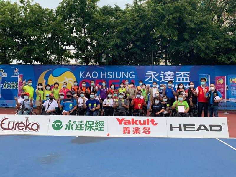 ▲永達盃國際輪網公開賽在高雄輪椅夢公園舉行。全球受到2019