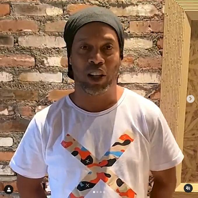 ▲繼C羅後足壇又有大咖染疫!前巴西球星「小羅納度」 Ronaldinho宣布自己確診。(圖/取自Ronaldinho Instagram)