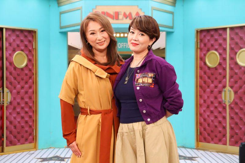 ▲王瑞霞(左)、苗可麗是高中學姊學妹。(圖/衛視提供)