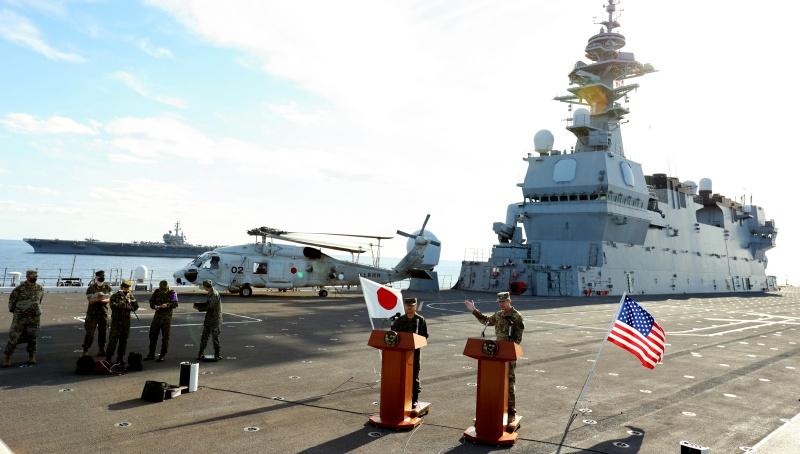 美日銳劍大型軍演 航空母艦領軍4.6萬官兵參與