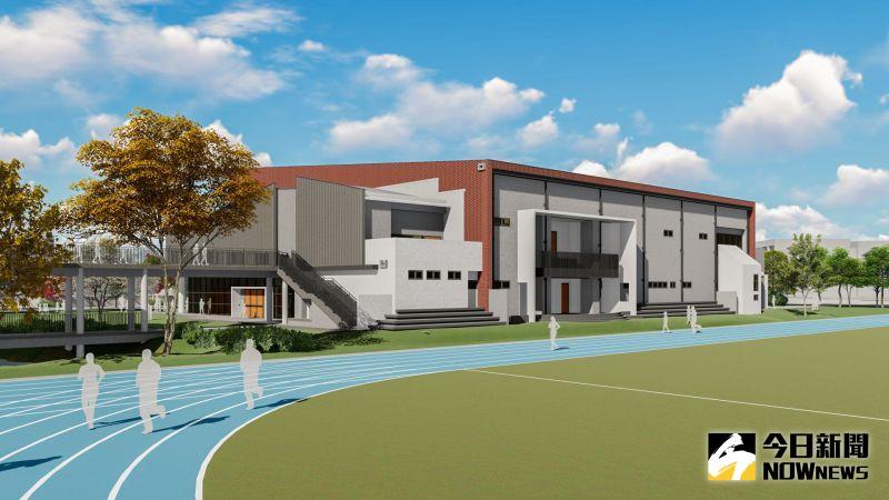 ▲鹿江國際中小學第三期校舍新建工程完工後的示意圖。(圖/記者陳雅芳攝,2020.10.27)