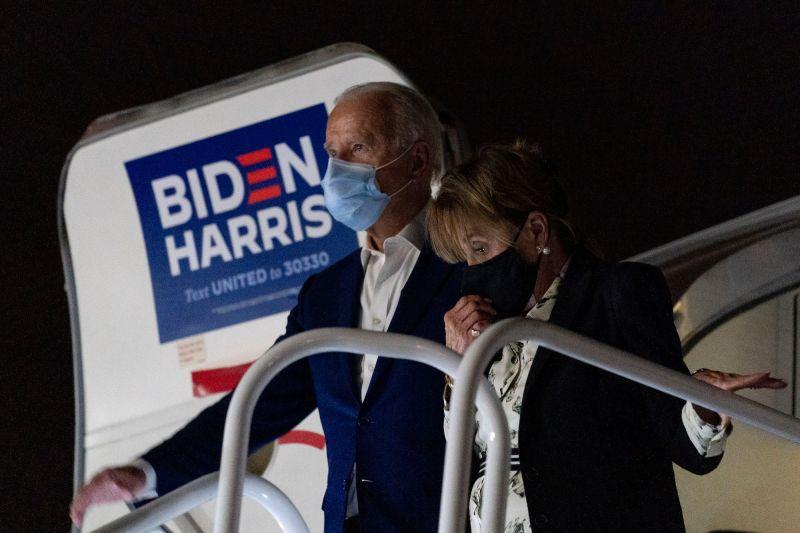 ▲拜登10月27日結束喬治亞州的競選行程,回到德拉瓦州。(圖/美聯社/達志影像)