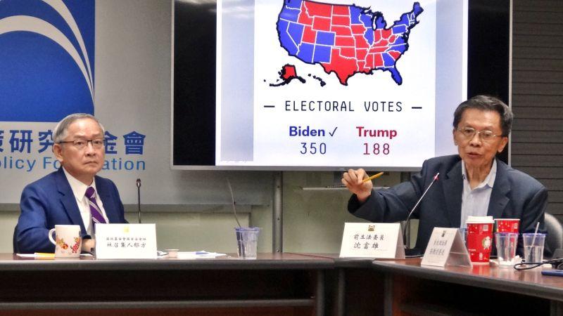 林郁方沈富雄對賭美總統大選 若輸了「來藍智庫掃地」