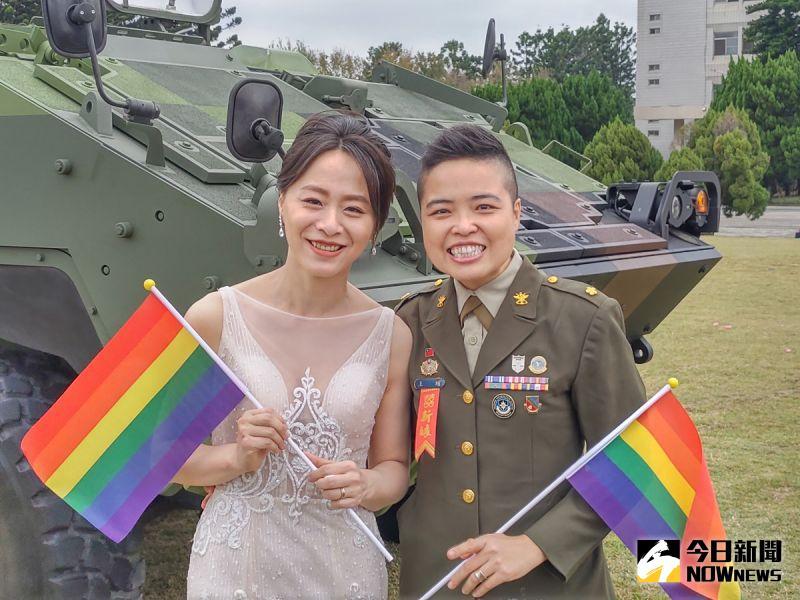 聯合婚禮首批「同婚」新人亮相 陸軍:一視同仁給予祝福
