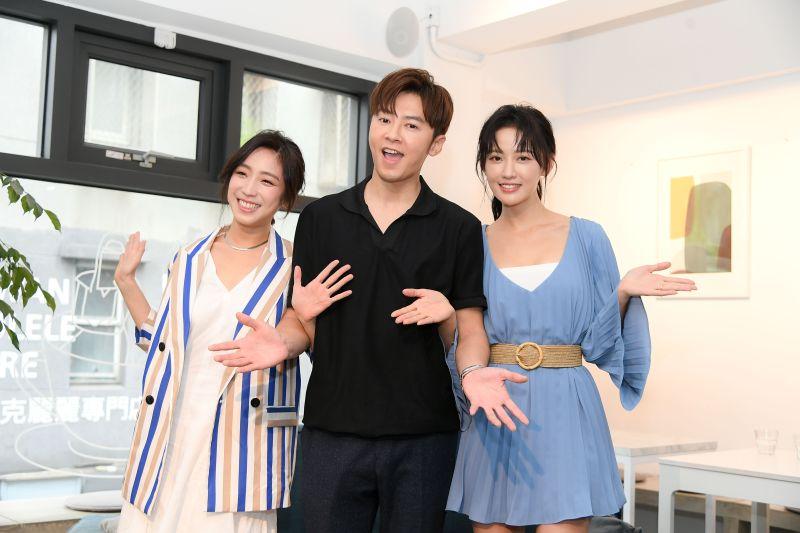 ▲梁舒涵(左)這次在劇中飾演女漢子。(圖