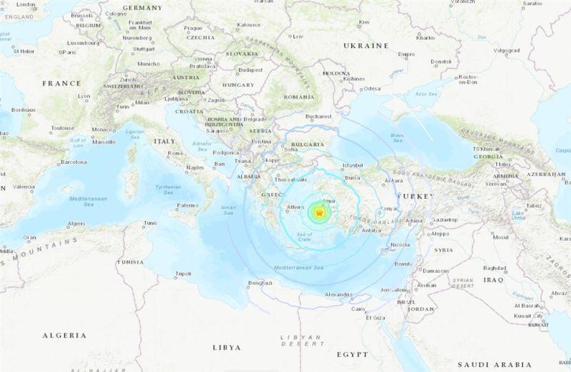 ▲此次地震震央。(圖/翻攝美國地質研究所)