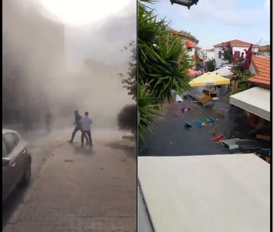 ▲伊茲米爾當地民眾拍下地震當時情況。(圖/翻攝推特@disclosetv)