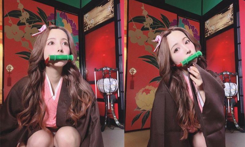 ▲日本女星三上悠亞搭上《鬼滅》熱潮!性感扮彌豆子,照片一曝光,粉絲嗨翻。(圖/翻攝自