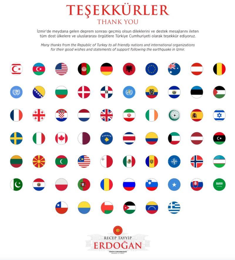 ▲新的感謝名單中,原有的台灣國旗已消失。(圖/翻攝自艾爾段推特)