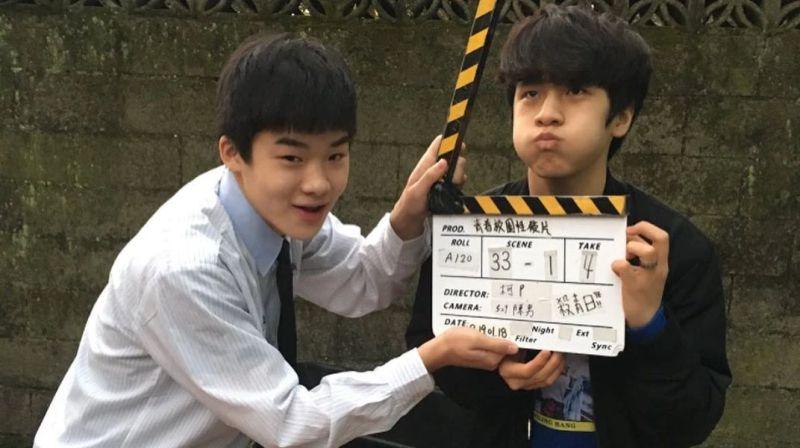 ▲王士豪(左)近期演出電影《無聲》。(圖/王士豪IG)