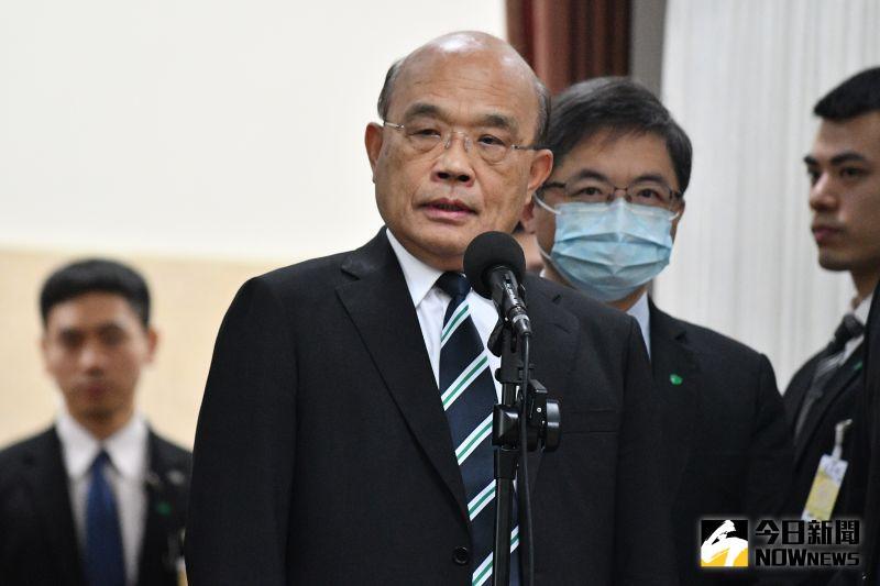 行政院長蘇貞昌。(圖/記者林柏年攝,2020.11.03)