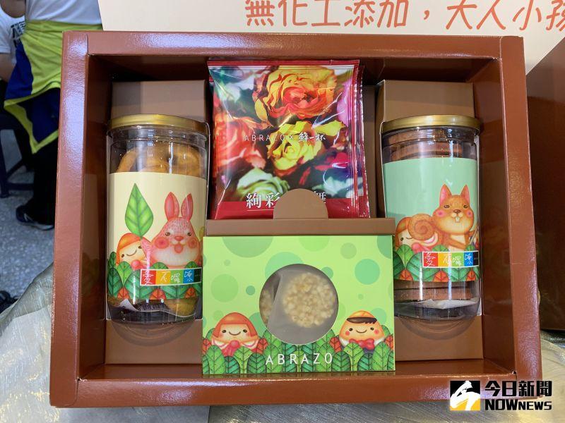 ▲唐寶寶親手做的餅乾禮盒,現在特價399元。(圖/記者康子仁攝)