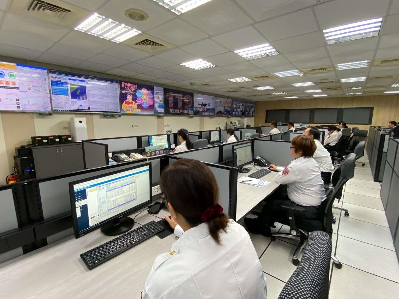 智慧、科技救災 救災救護指揮中心啟用