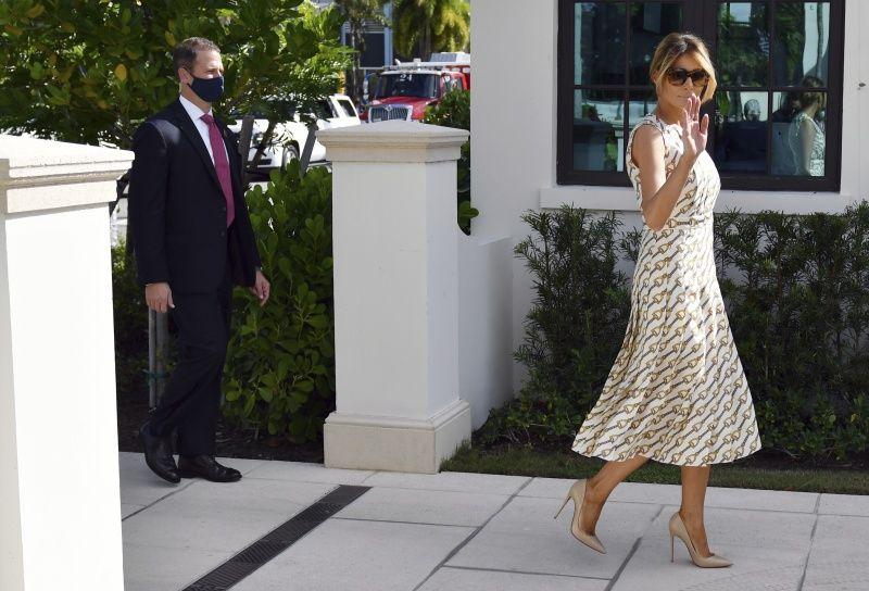▲美國第一夫人梅蘭妮亞已完成投票。(圖/美聯社/達志影像)