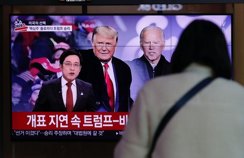▲美國總統大選開票如火如荼進行中。(圖/美聯社/達志影像)