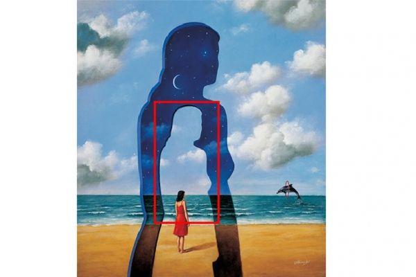 ▲第一眼看到「藍天、大海中的女人」的你,屬於觀察力非常厲害的人,很了解自己要的是什麼,也很會察言觀色。(圖/翻攝自星座好朋友)