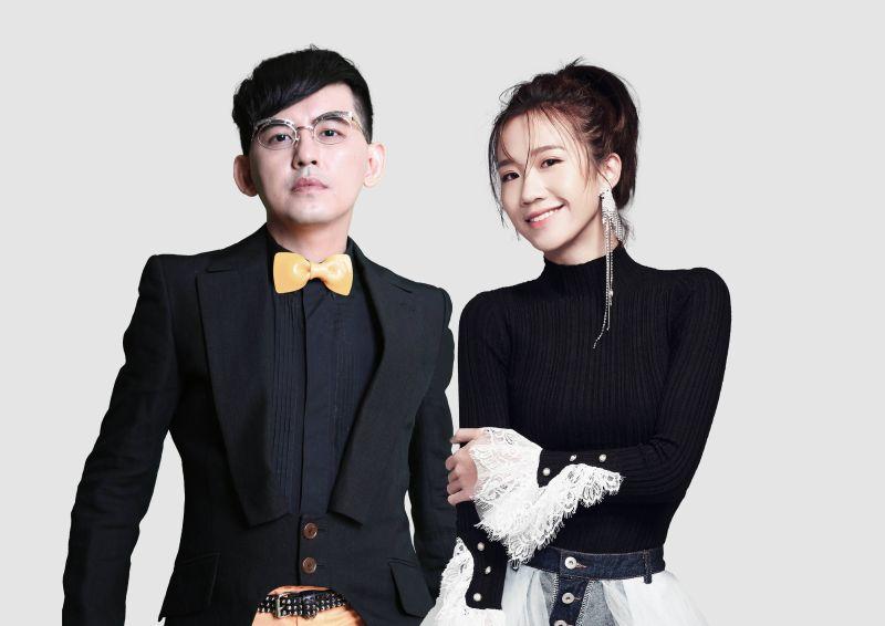 ▲黃子佼(左)、LuLu再度聯手主持台北跨年晚會。(圖/必應提供)