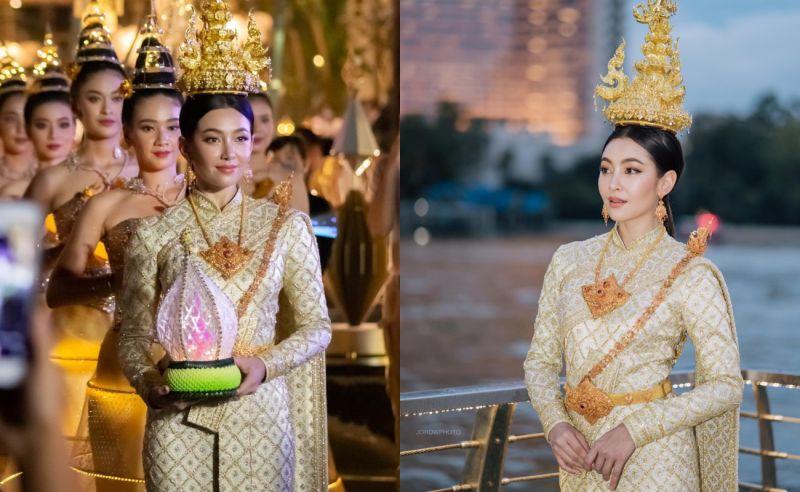 泰國知名女星出席水燈節慶典 佩帶項鍊高達2千萬