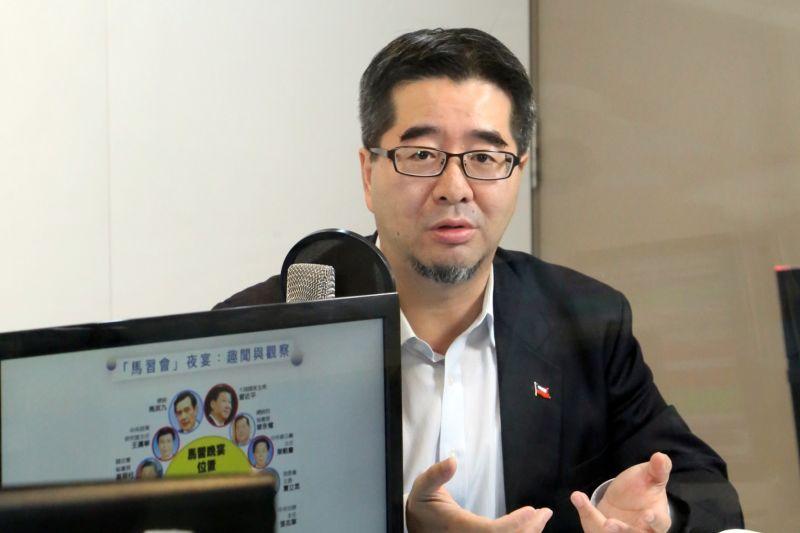 ▲馬英九基金會執行長蕭旭岑6日表示,二次馬習會是假議題,「一次蔡習會」比較重要。(圖/POP廣播提供)