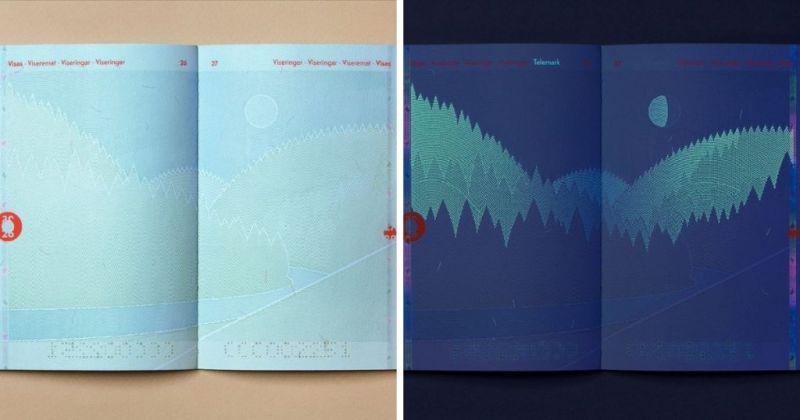 ▲在UV燈光照射下,護照內的景象也會有所不同。(圖/取自Neue官網)