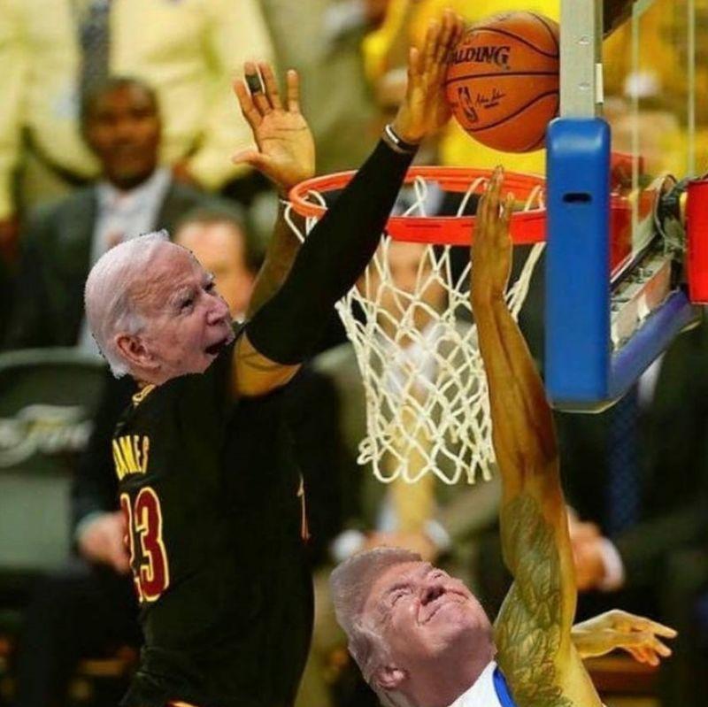 NBA/川普大選崩盤遭逆轉 詹皇發「世紀之鍋」梗圖狂酸