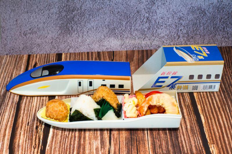 ▲JR東日本公司藍色E7系新幹線便當。(圖/台鐵提供)