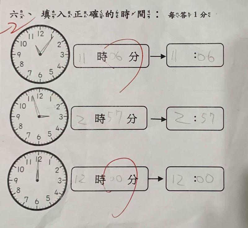 ▲原PO指出,正確答案是時鐘要寫一位數,是11時6分。(圖/翻攝自《爆廢1公社》
