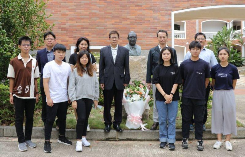 已故金大名譽校長楊忠禮博士再度捐款金門大學新台幣500萬。(圖/金門大學提供)