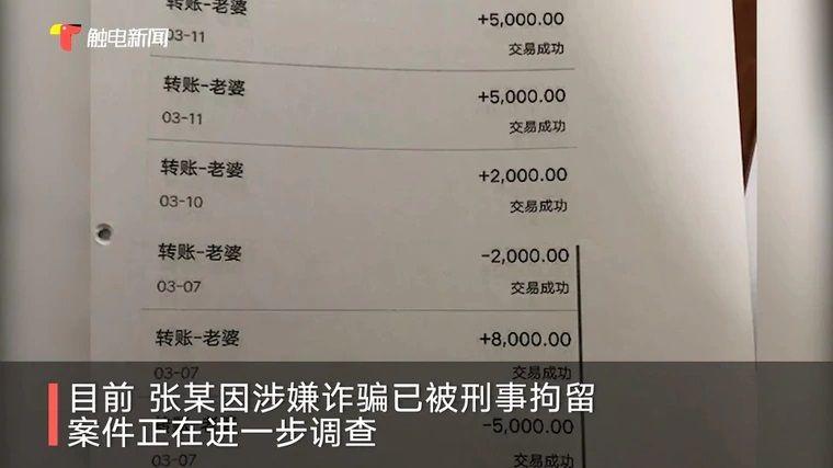 ▲劉姓男子匯款給張女的紀錄。(圖/翻攝觸電新聞)