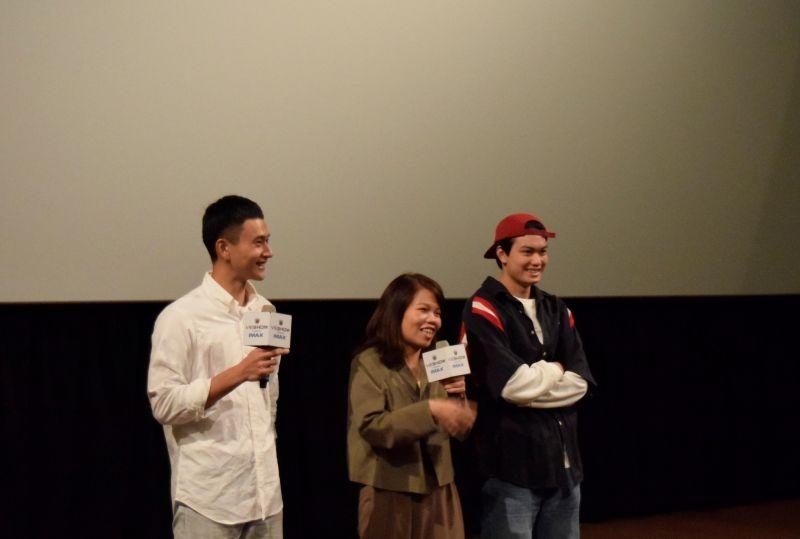 ▲導演柯貞年(中)認為劉冠廷(左)很認真。(圖/CATCHPLAY)