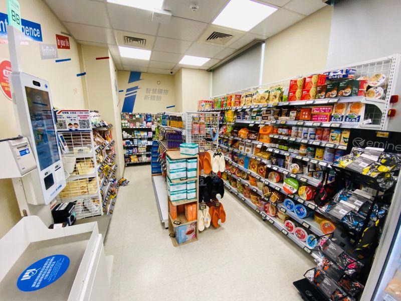 ▲家樂福規劃無人商店,只要登入為家樂福會員,透過感應條碼進入就能購物。(圖/家樂福提供)