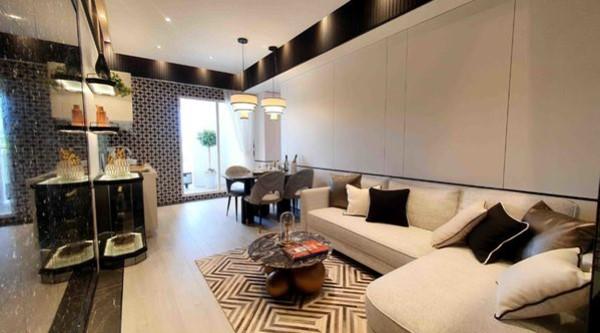 ▲茂德建設於板橋推出新建案「高妍植」,設計主打豪宅風格,整體卻是樸實價格。(圖/品牌提供)