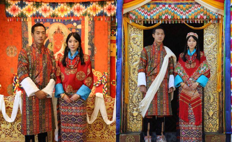 不丹高顏值公主出嫁 和王后弟弟完婚親上加親