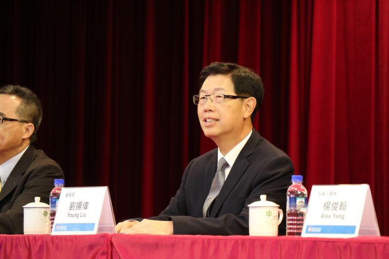 ▲鴻海召開法說會,由董事長劉揚偉親自主持。(圖/NOWnews資料照,鴻海提供)