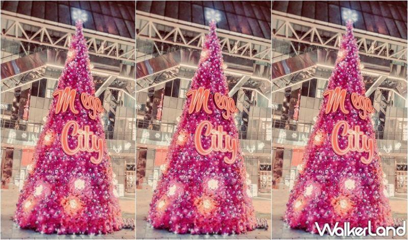 ▲巨型粉紅耶誕樹(圖|板橋大遠百/Taipei