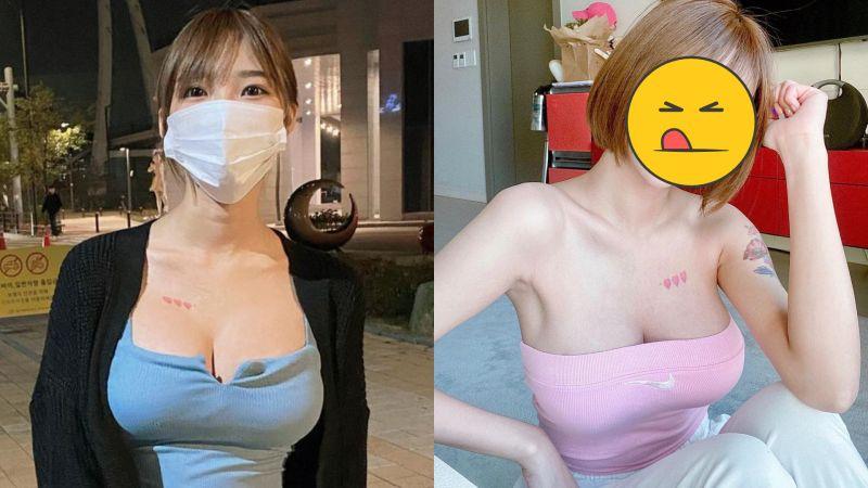 ▲「口罩兇妹」長相曝光。(圖/Mina IG)