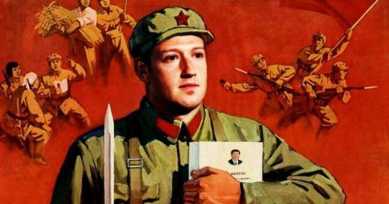 ▲網友嘲諷臉書創辦人聽從中共指令。圖/取自推特@shirohamusan/