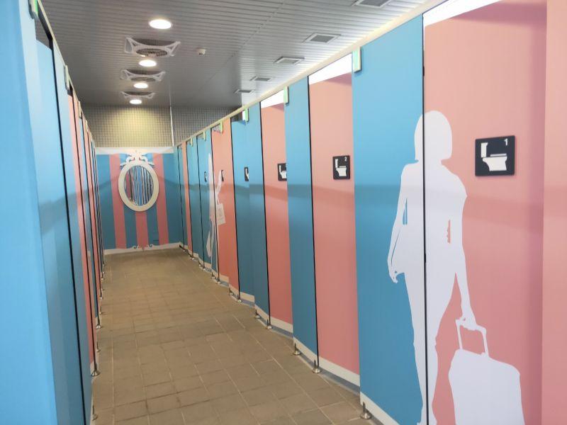 全台捷運首創 中捷高鐵台中、松竹站五星廁所
