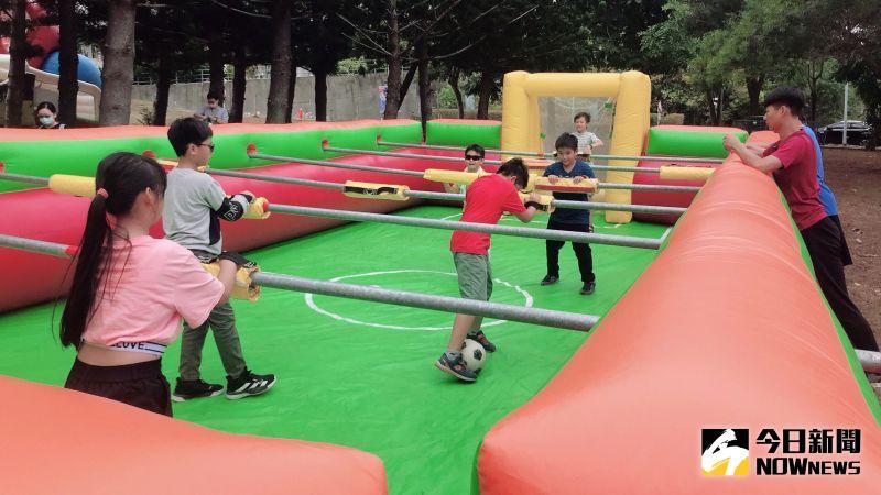 ▲現場也安排適合親子同樂的多元活動,打造兒童遊樂園。(圖/記者陳雅芳攝,2020.11.14)