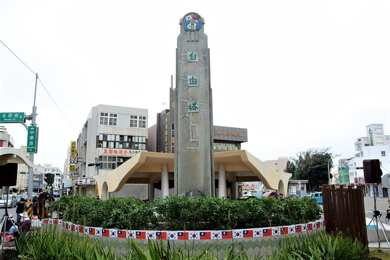 ▲賴峰偉表示,自由塔見證韓戰歷史,且是全台唯一與韓戰相關的紀念性建築,具有歷史文化價值。(圖/澎湖縣政府提供)