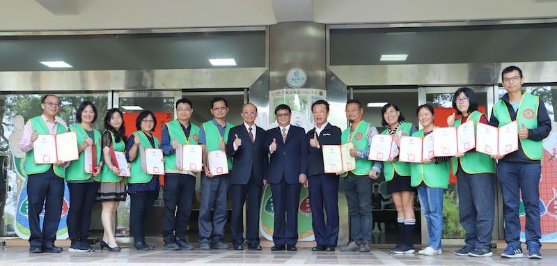 ▲南華大學同時辦理環境教育志工授證。(圖/南華大學提供)