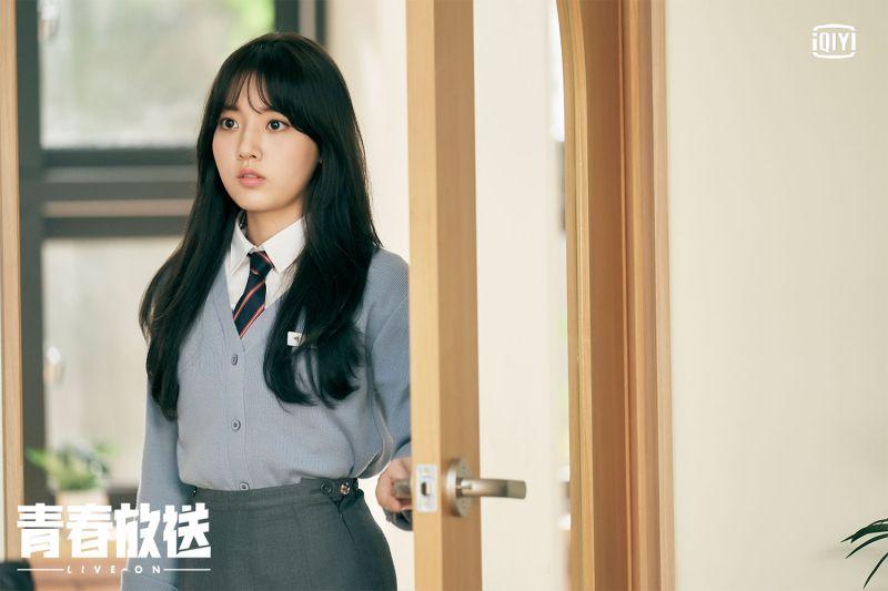 ▲鄭多彬飾演高中美少女。(圖/愛奇藝海外站)