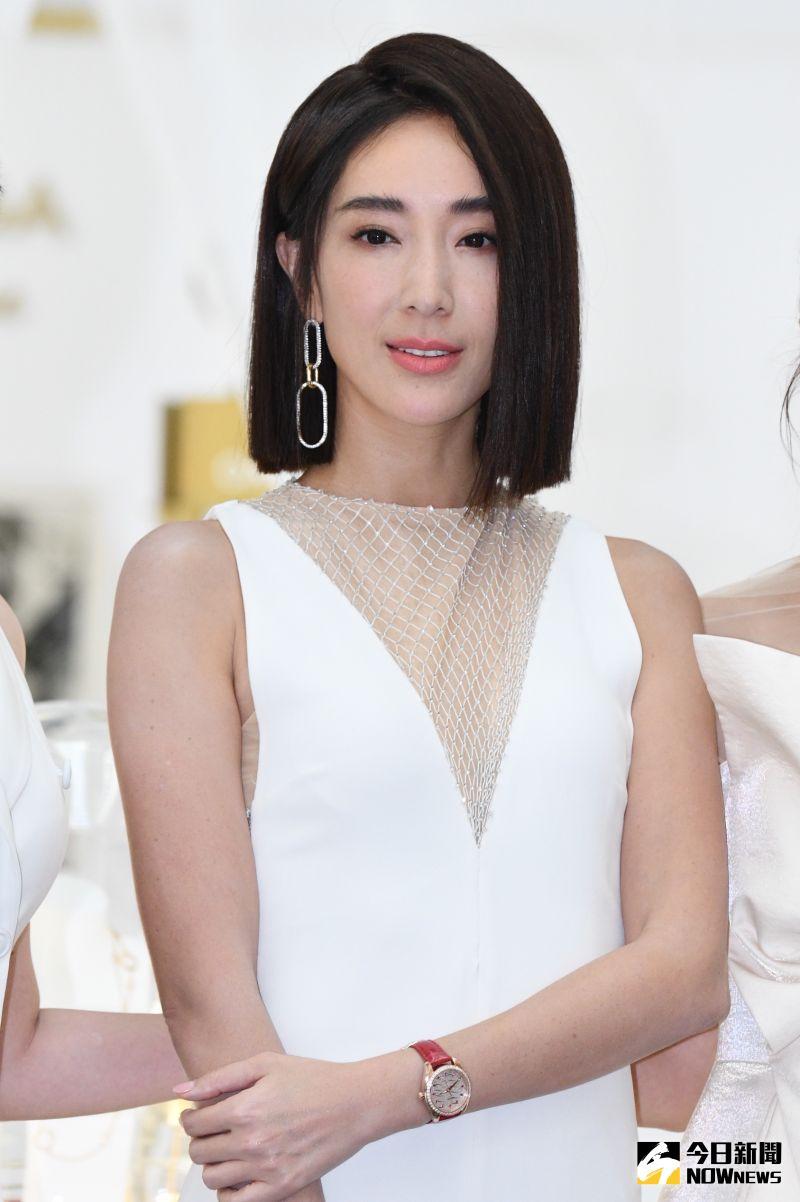 ▲隋棠出席歐米茄「她的美麗時光」展覽開幕記者會。(圖/記者林柏年攝