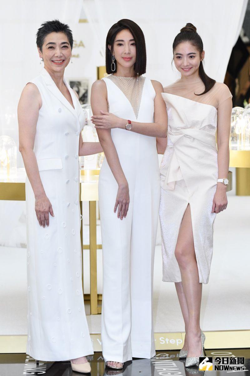 ▲▼賴佩霞(左起)、隋棠、謝沛恩互動如姊妹。(圖/記者林柏年攝)