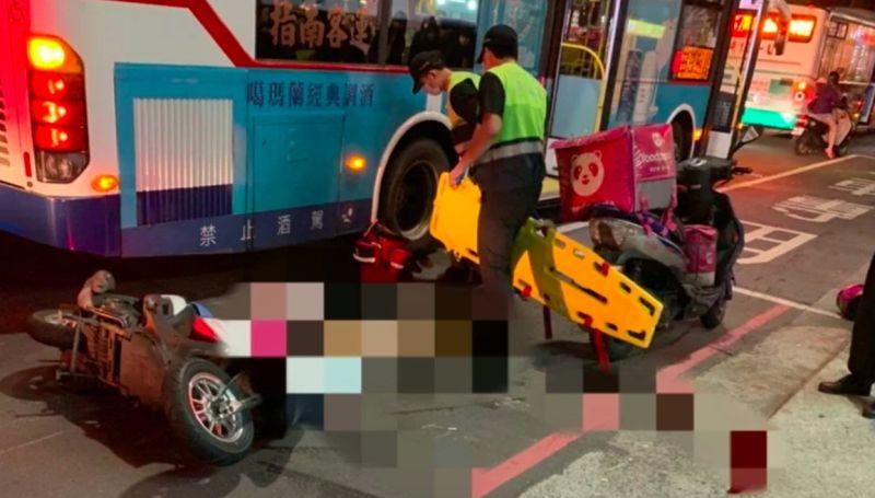 ▲新北泰山區昨(17)日晚間發生一起熊貓外送員車禍意外,頭部因受到強烈撞擊,送醫不治。(圖/翻攝我是五股人社團)