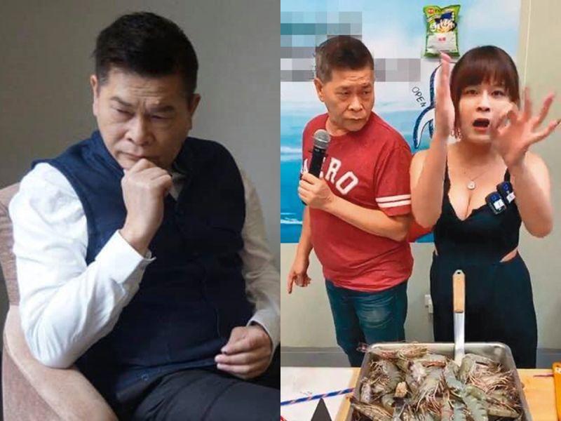▲澎恰恰轉戰直播平台賣海鮮。(圖/翻攝澎恰恰、丟丟妹臉書)